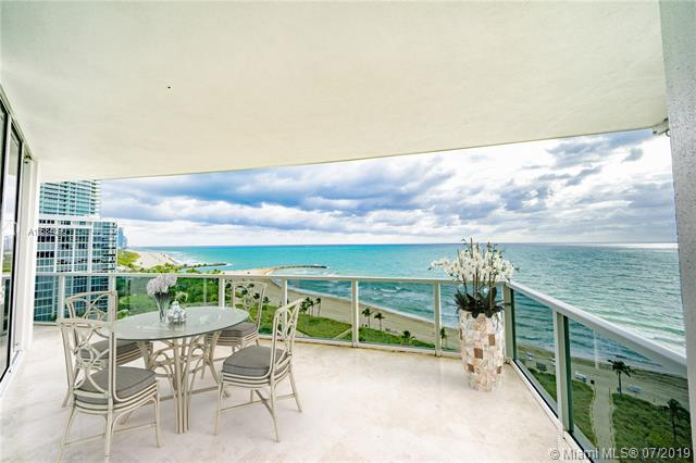 Photo of 10225 Collins Ave #901, Bal Harbour, Florida, 33154 - Digitally staged 700+ SF wraparound balcony offering unobstructed northeastern-facing views.