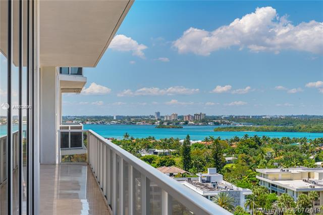 Photo of 10225 Collins Ave #901, Bal Harbour, Florida, 33154 - Northwestern views of the Intracoastal Waterway and Haulover Sandbar.