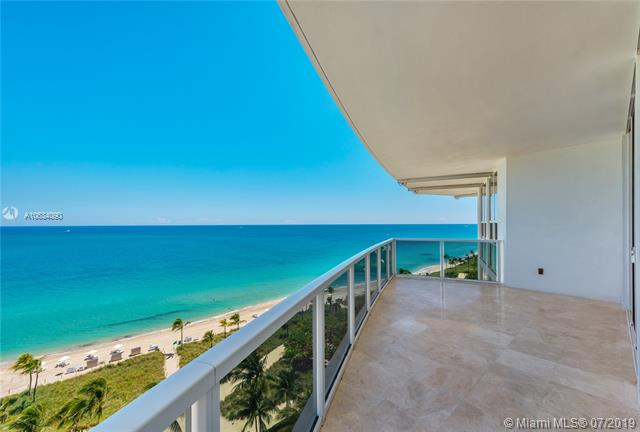 Photo of 10225 Collins Ave #901, Bal Harbour, Florida, 33154 - Expansive wraparound balcony with multiple seating/dining areas.