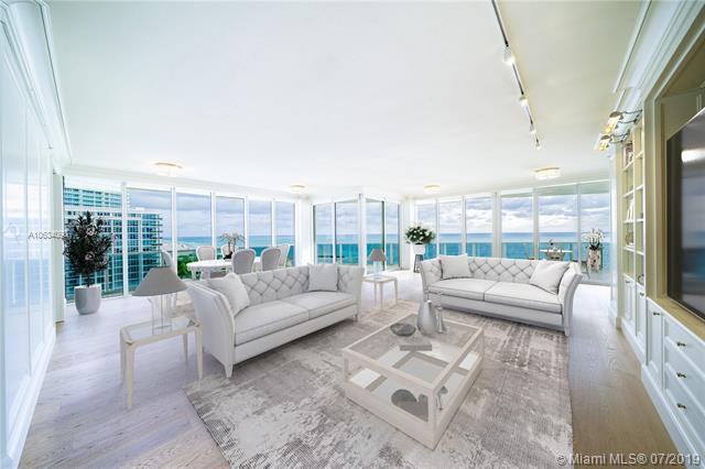 Photo of 10225 Collins Ave #901, Bal Harbour, Florida, 33154 - Digitally staged living and dining room.