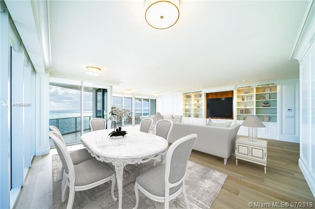 Photo of 10225 Collins Ave #901, Bal Harbour, Florida, 33154 - Digitally staged dining and living room.