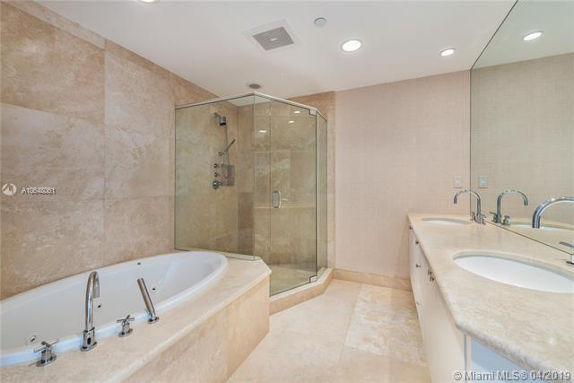 Photo of 10225 Collins Ave #1103, Bal Harbour, Florida, 33154 - Elegant master bathroom.
