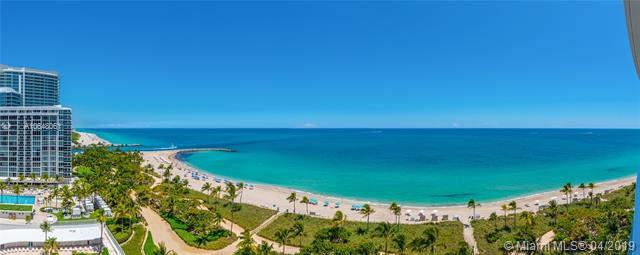 Photo of 10225 Collins Ave #1103, Bal Harbour, Florida, 33154 - Panoramic northeast views of Atlantic Ocean and Intracoastal Inlet from terrace.