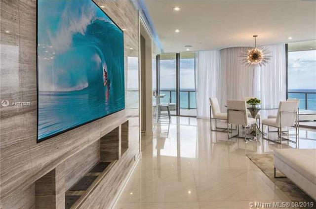 Photo of 9703 Collins Ave #1800, Bal Harbour, Florida, 33154 - FORMAL FOYER TO DINING AREAS IMMEDIATELY VIEW OCEAN..
