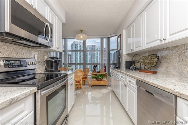 Photo of 3500 Mystic Pointe Dr #1205, Aventura, Florida, 33180 - Renovated Kitchen features new Samsung Appliances. Beautiful granite countertops!