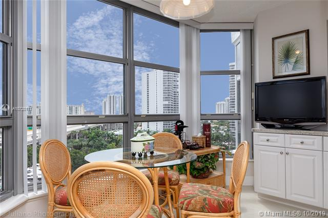 Photo of 3500 Mystic Pointe Dr #1205, Aventura, Florida, 33180 - Breakfast area facing breathtaking northeast views.