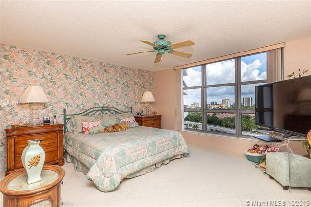 Photo of 3500 Mystic Pointe Dr #1205, Aventura, Florida, 33180 - Spacious Master Bedroom. Furniture is available for sale.