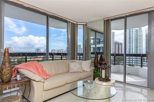 Photo of 3500 Mystic Pointe Dr #1205, Aventura, Florida, 33180 - Cozy Den Facing Breathtaking Views-Corner Balcony. Furniture is available for sale.