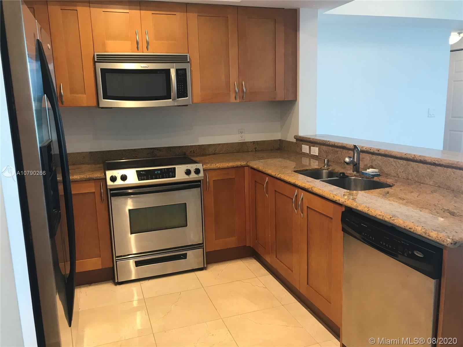 Photo of 1745 Hallandale Beach Blvd #201W, Hallandale, Florida, 33009 - KITCHEN - S/S APPLIANCES & GRANITE COUNTER TOPS