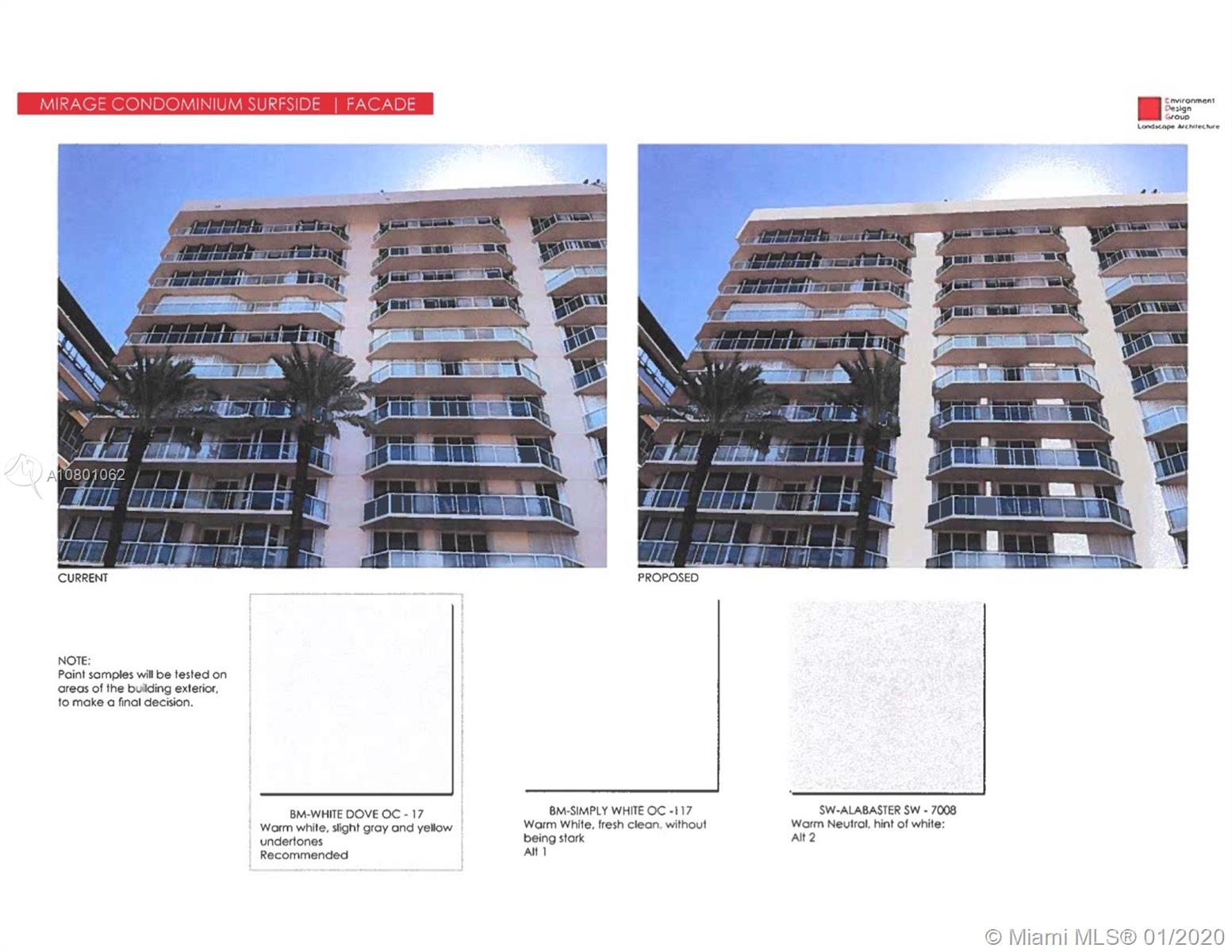 Photo of 8925 Collins Ave #4E, Surfside, Florida, 33154 - part of the assessment: new facade