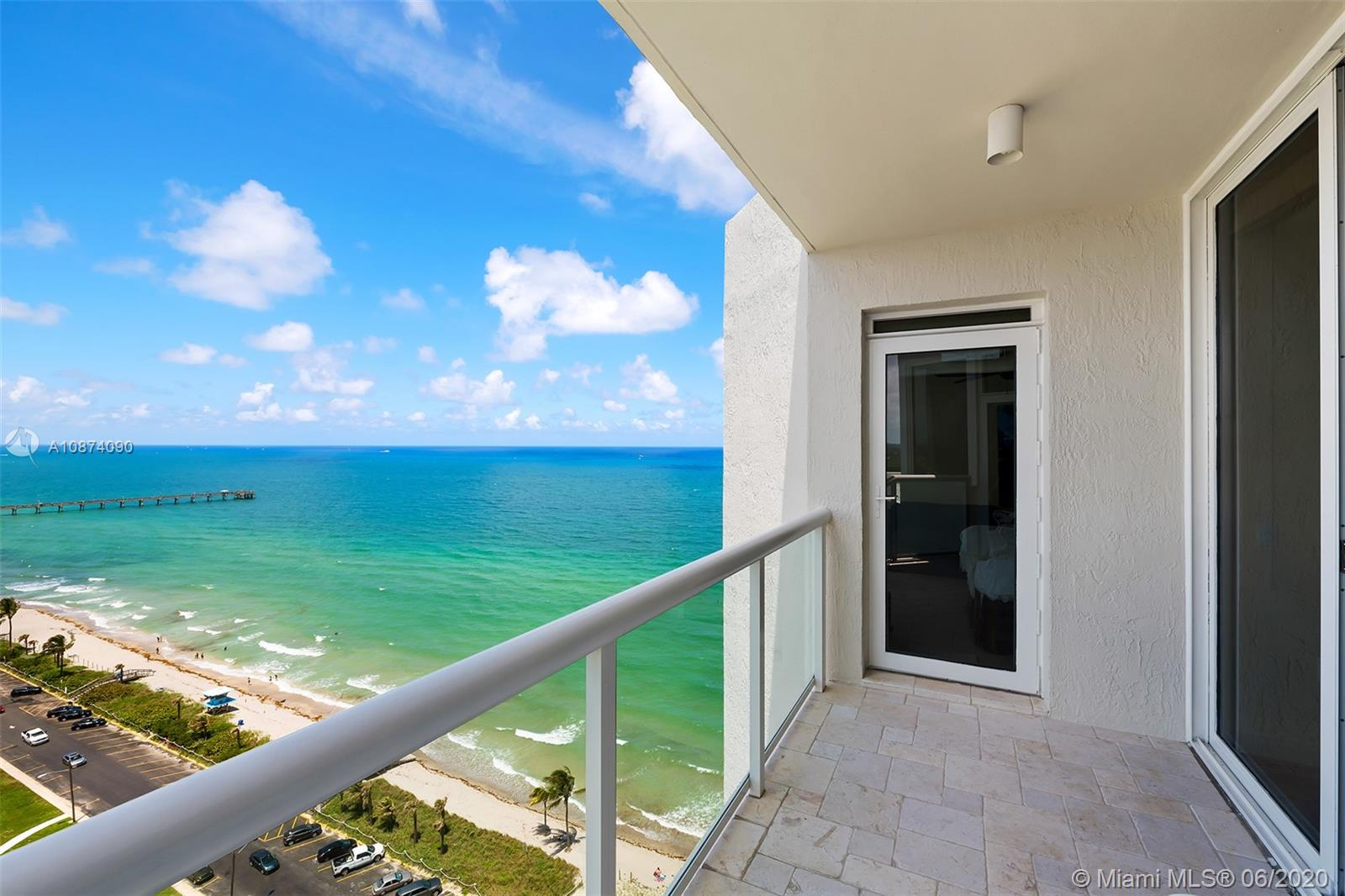 Photo of 6051 Ocean Dr #PH5, Hollywood, Florida, 33019 - Balcony off guest bedrooms