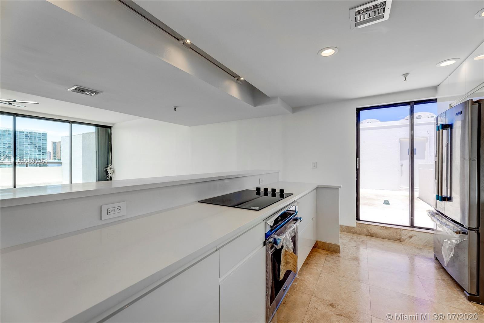 Photo of 425 Poinciana Island Drive #1444, Sunny Isles Beach, Florida, 33160 - Kitchen view with recessed lighting