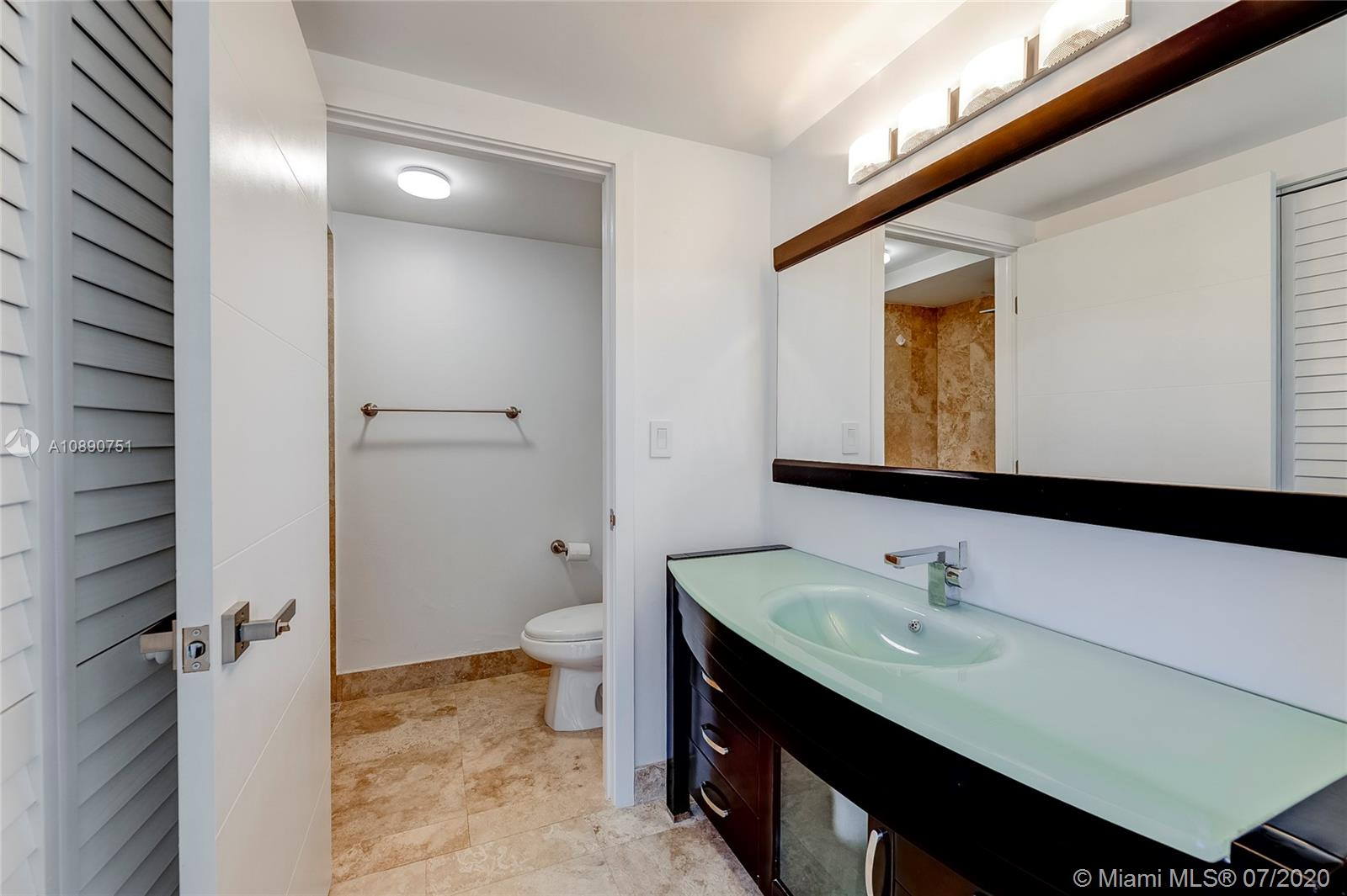 Photo of 425 Poinciana Island Drive #1444, Sunny Isles Beach, Florida, 33160 - Second room view from dressing area of en suite bathroom