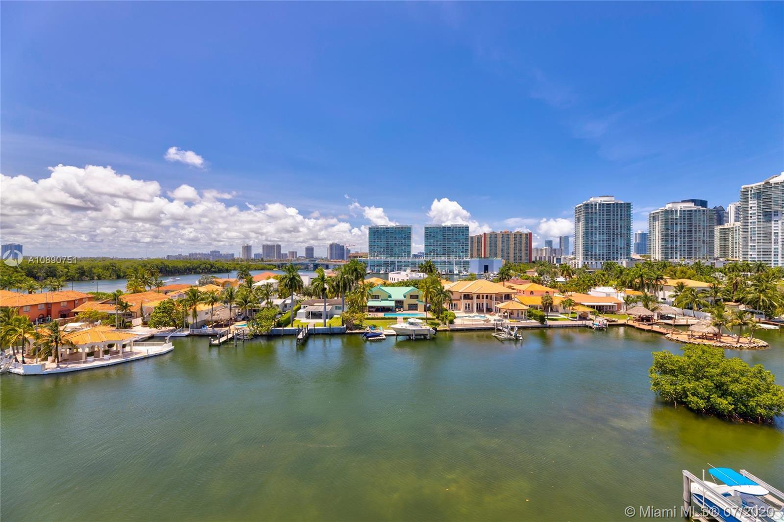 Photo of 425 Poinciana Island Drive #1444, Sunny Isles Beach, Florida, 33160 - Grand terrace with north east skyline views