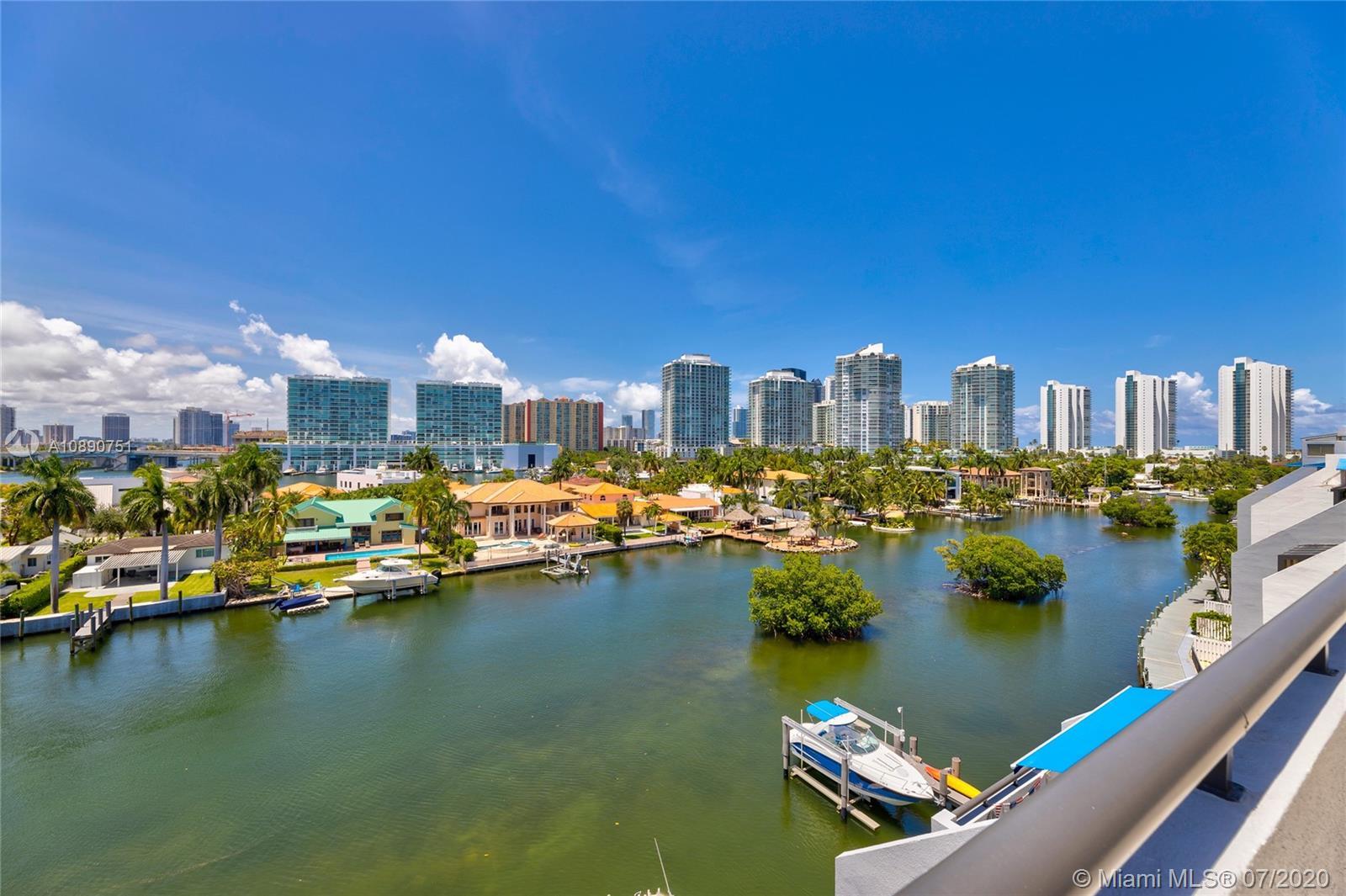 Photo of 425 Poinciana Island Drive #1444, Sunny Isles Beach, Florida, 33160 - North view off grand terrace