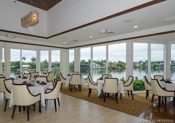 Photo of 20281 Country Club Dr #2402, Aventura, Florida, 33180 - Restaurant overlooking pool.