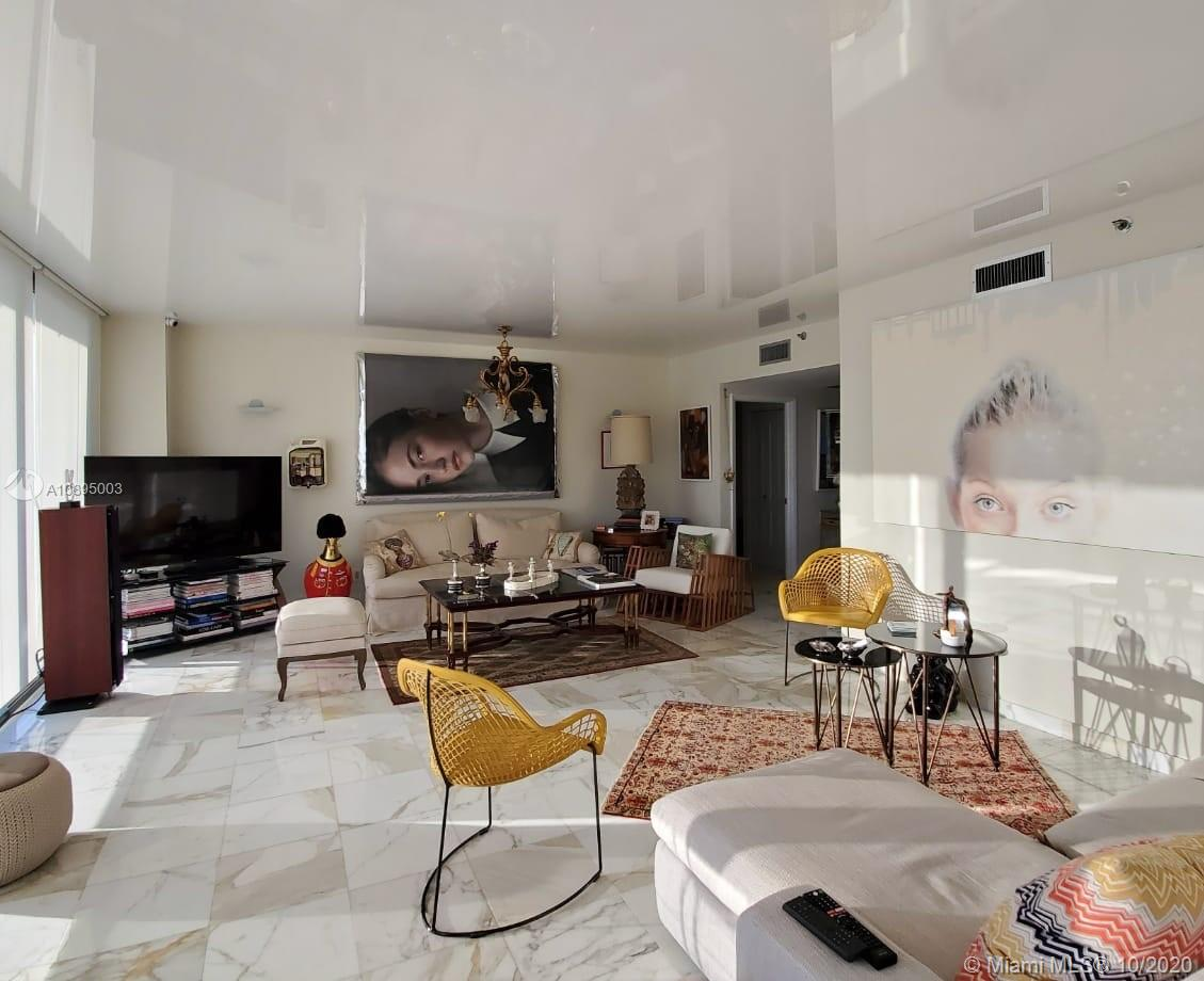 Photo of 20281 Country Club Dr #2402, Aventura, Florida, 33180 - Living room with high end ceiling finish