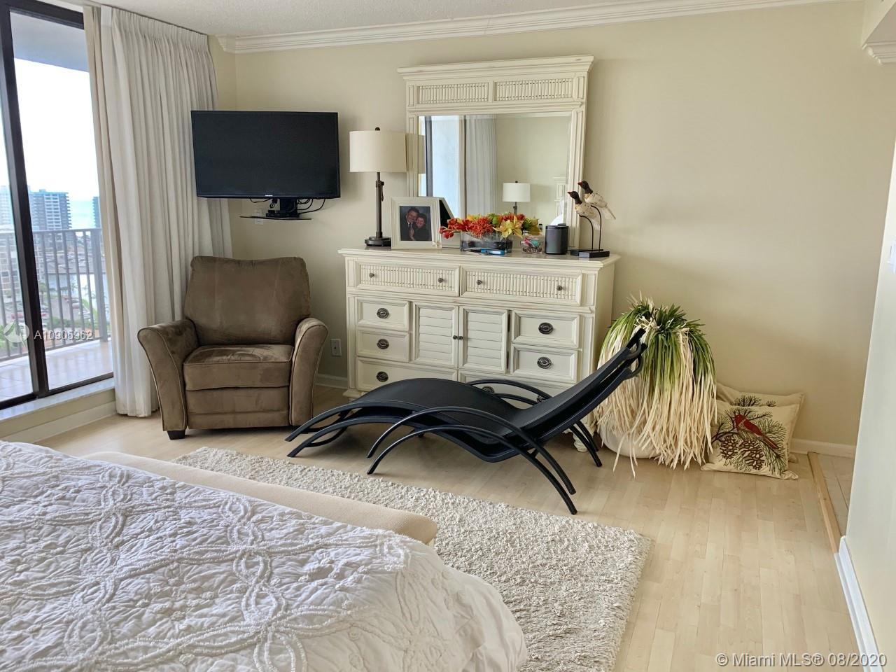 Photo of 300 Three Islands Blvd #618, Hallandale Beach, Florida, 33009 - MASTER BEDROOM BALCONY VIEW!