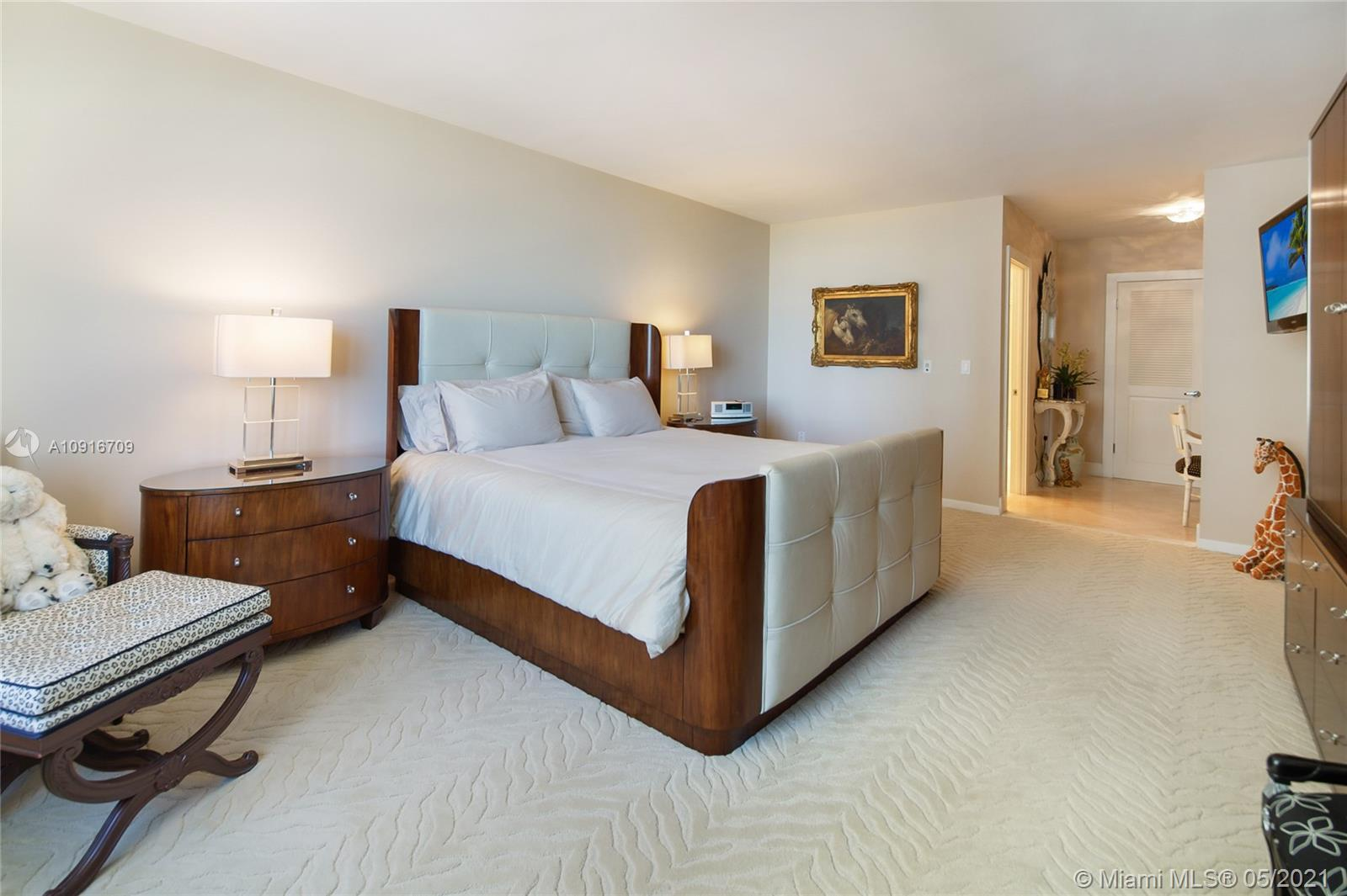 Photo of 9801 Collins Ave #11B Direct Ocean, Bal Harbour, Florida, 33154 - Master Bedroom looking direct Ocean views from your bed