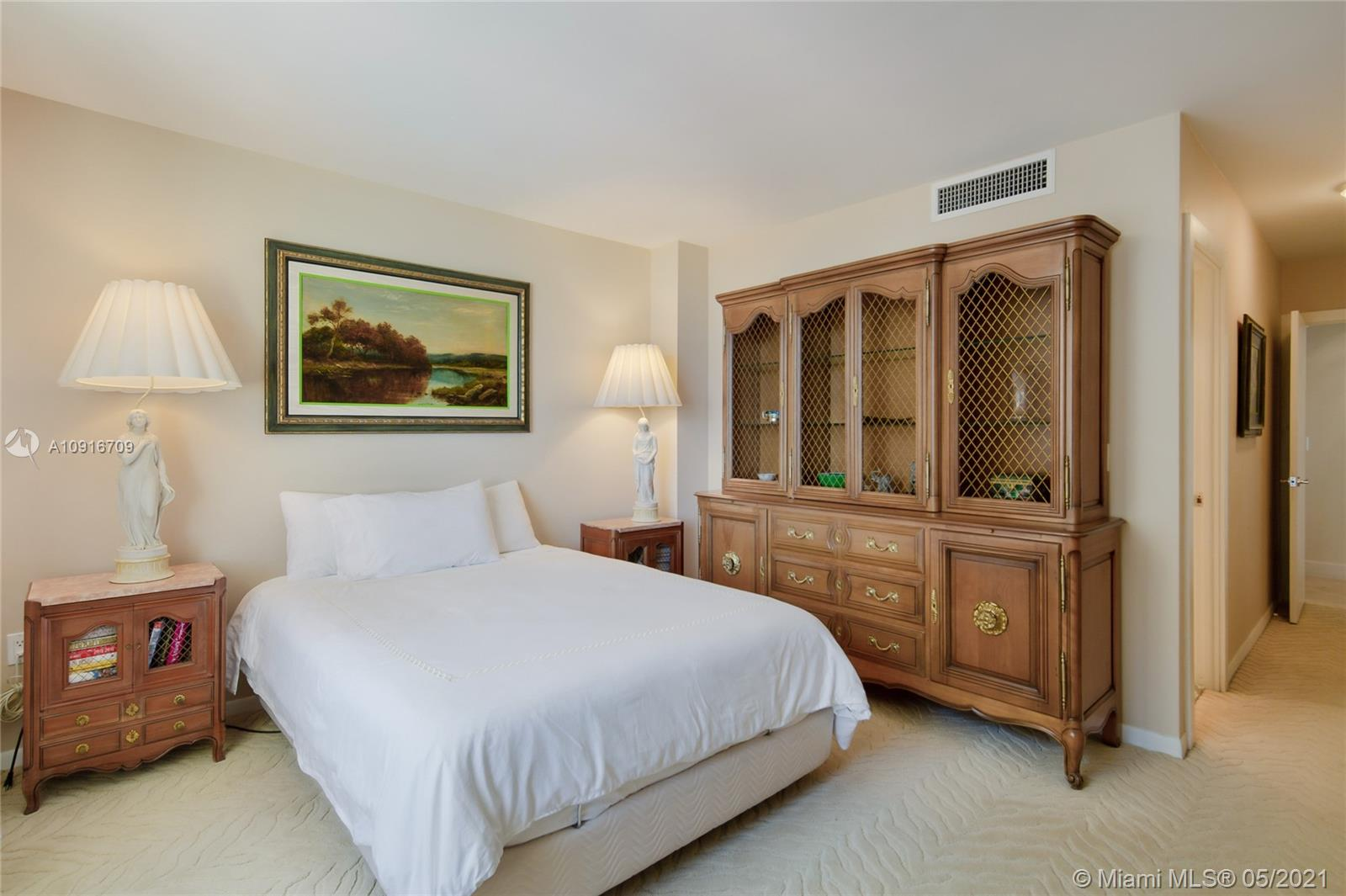 Photo of 9801 Collins Ave #11B Direct Ocean, Bal Harbour, Florida, 33154 - Master Bedroom ensuite and 2 walking closets