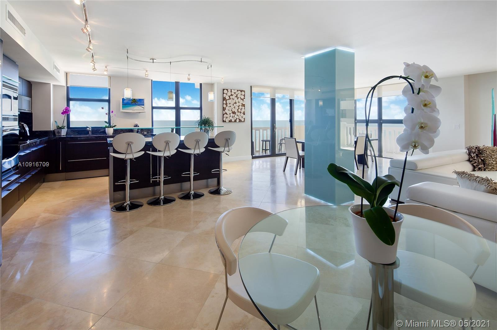 Photo of 9801 Collins Ave #11B Direct Ocean, Bal Harbour, Florida, 33154 - The views a soon as you Open your entrance door