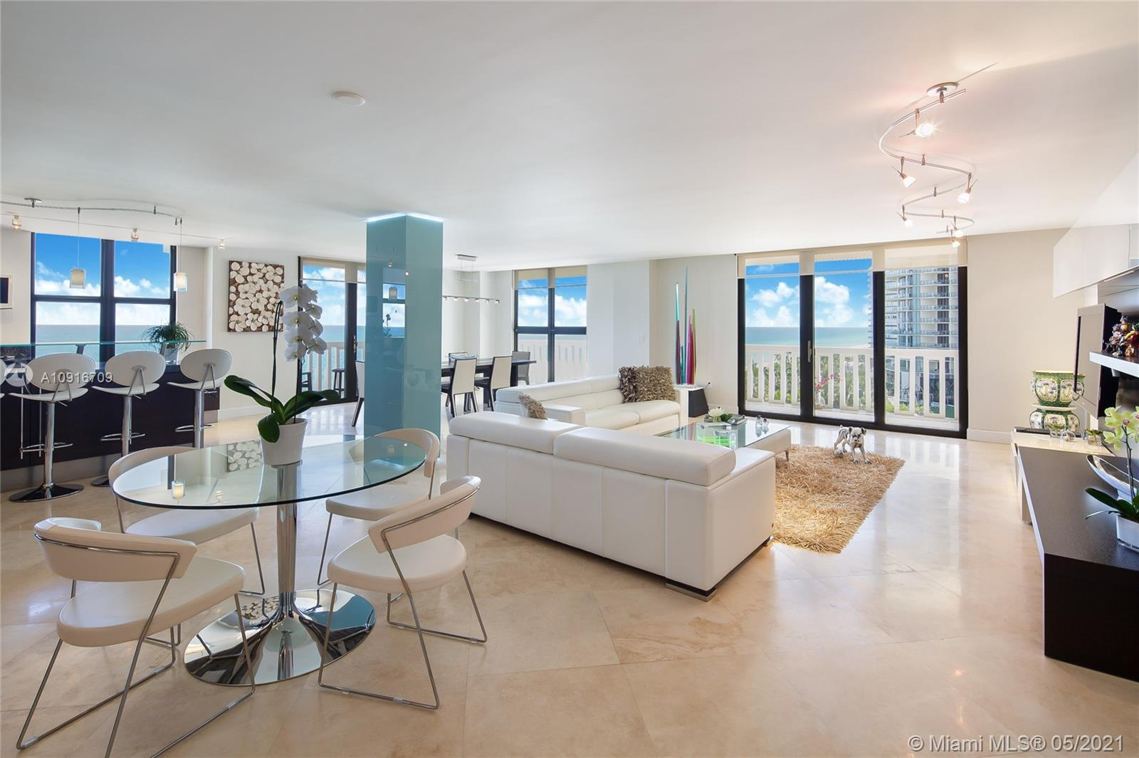 Photo of 9801 Collins Ave #11B Direct Ocean, Bal Harbour, Florida, 33154 - Looking East
