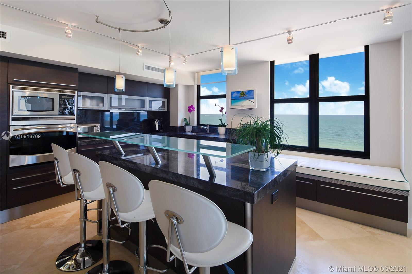 Photo of 9801 Collins Ave #11B Direct Ocean, Bal Harbour, Florida, 33154 - Cooking enjoying these ocean views