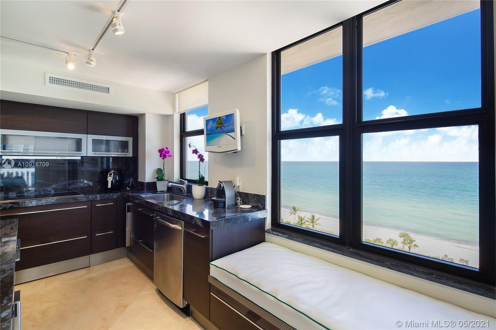 Photo of 9801 Collins Ave #11B Direct Ocean, Bal Harbour, Florida, 33154 - kitchen area