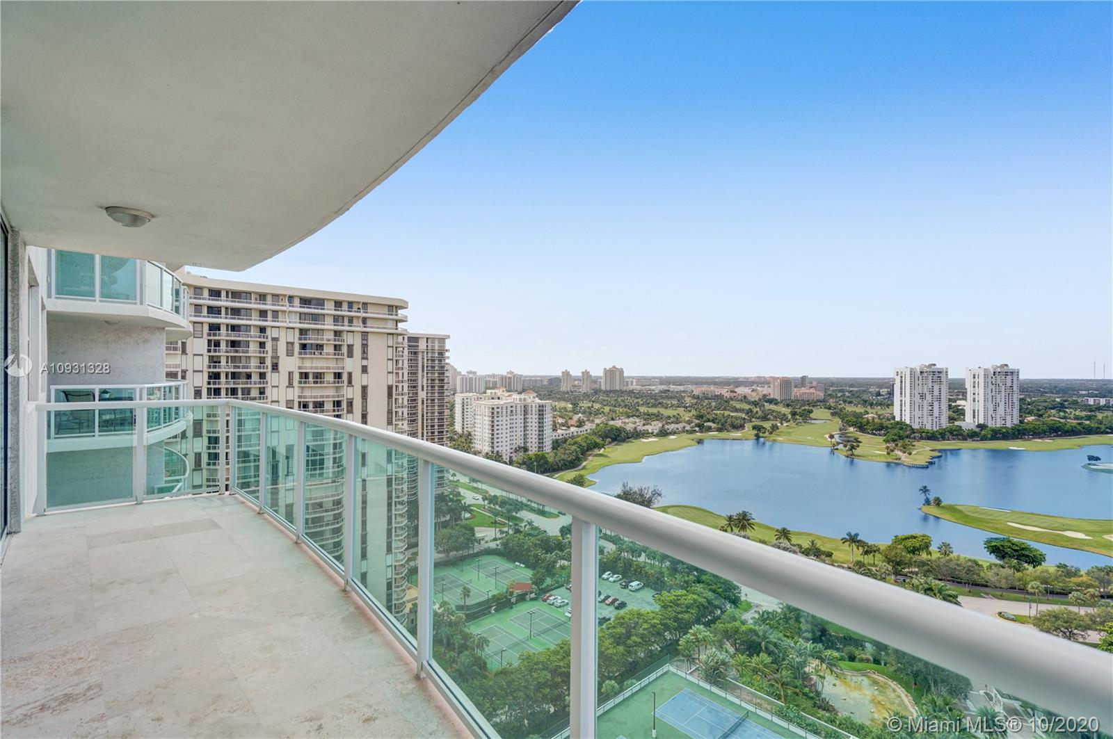 Photo of 20201 Country Club Dr #2407, Aventura, Florida, 33180 - Balcony off the bedrooms.