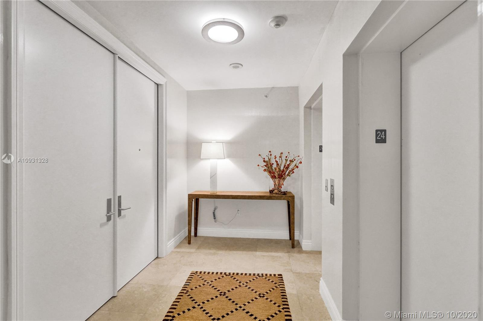 Photo of 20201 Country Club Dr #2407, Aventura, Florida, 33180 - Private elevator, double doors foyer.