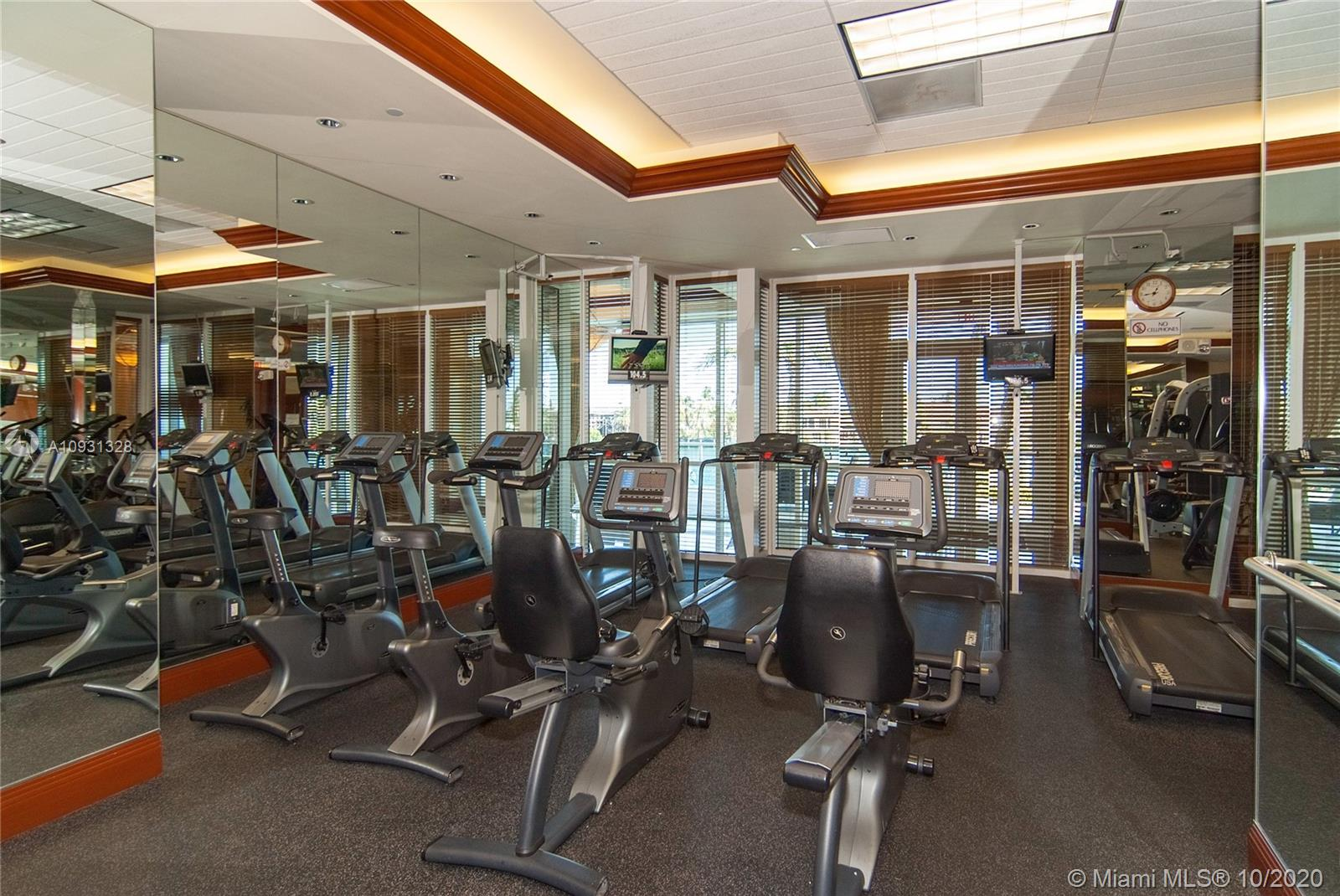 Photo of 20201 Country Club Dr #2407, Aventura, Florida, 33180 - Gym facing the pool and the Intracoastal.