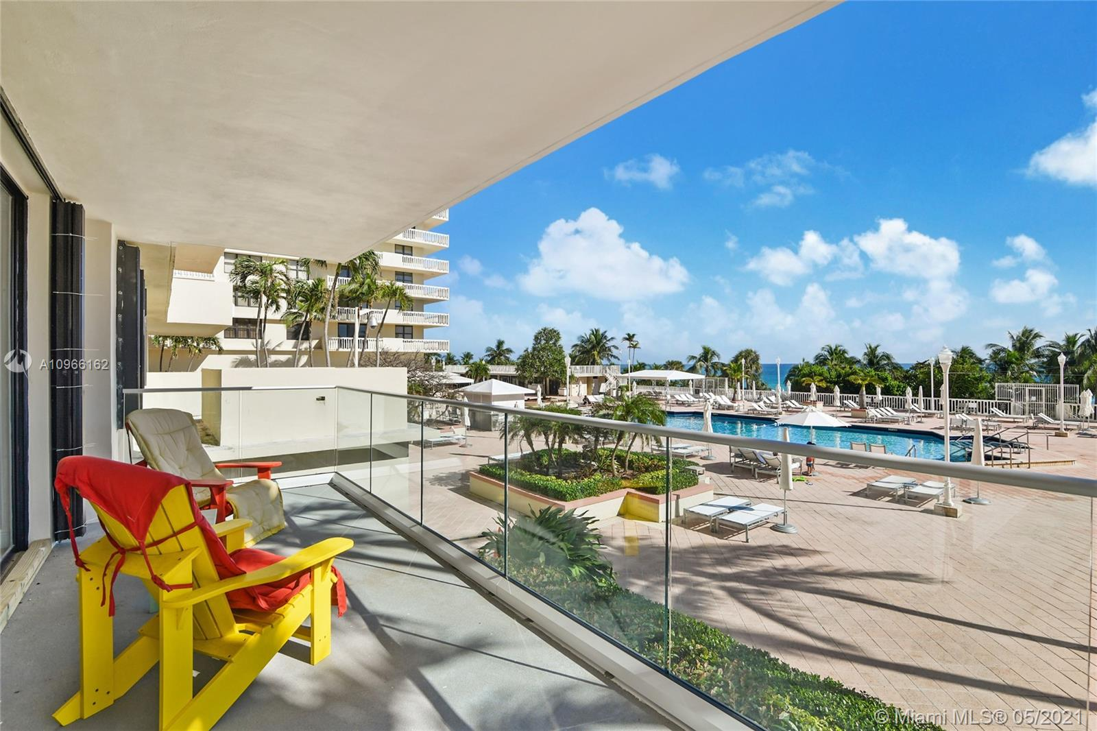 Photo of 9801 Collins Ave #4Z Direct Ocean, Bal Harbour, Florida, 33154 - Balcony Views