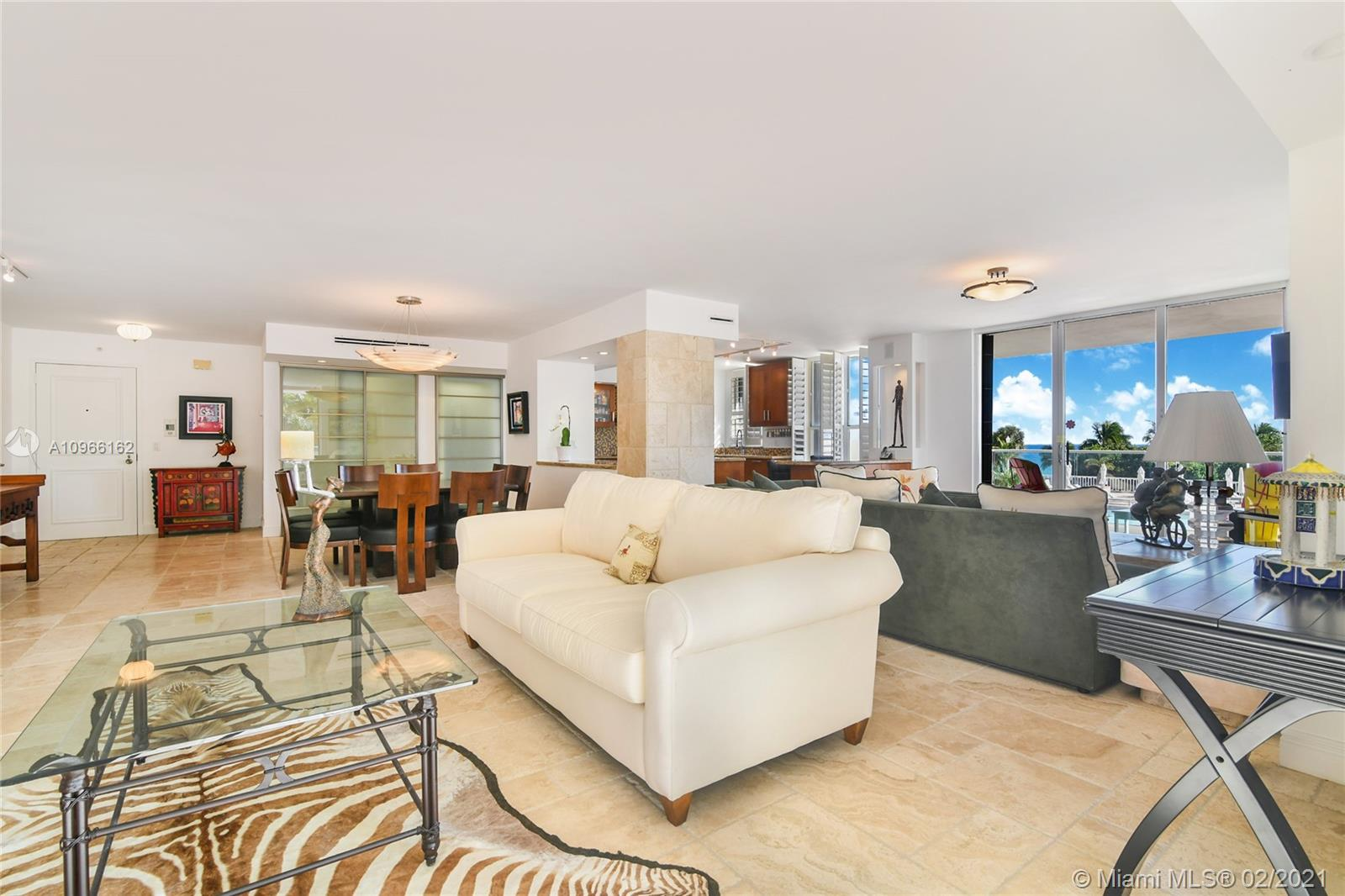 Photo of 9801 Collins Ave #4Z Direct Ocean, Bal Harbour, Florida, 33154 - Balmoral Unit 4Z Balcony