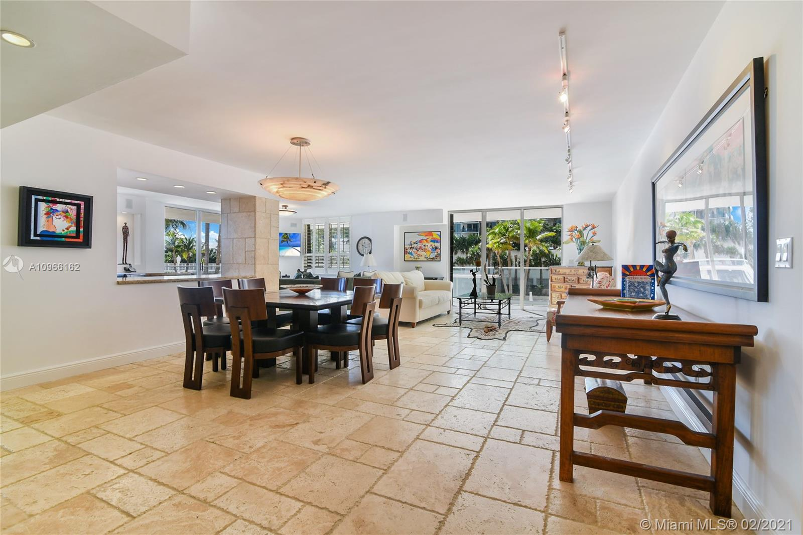 Photo of 9801 Collins Ave #4Z Direct Ocean, Bal Harbour, Florida, 33154 - Looking the entrance door Dinning-room and open kitchen