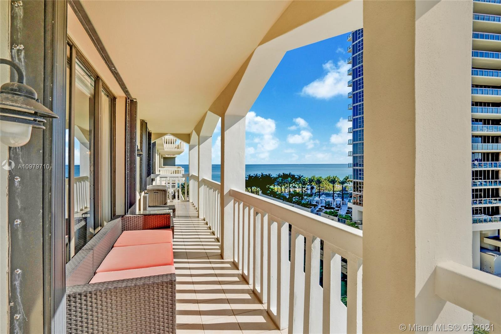 Photo of 9801 Collins Ave #10R, Bal Harbour, Florida, 33154 - Sunrise views from the balcony