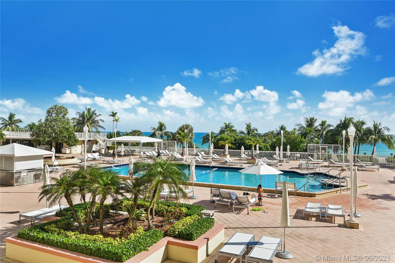 Photo of 9801 Collins Ave #10R, Bal Harbour, Florida, 33154 - Pool area , bar