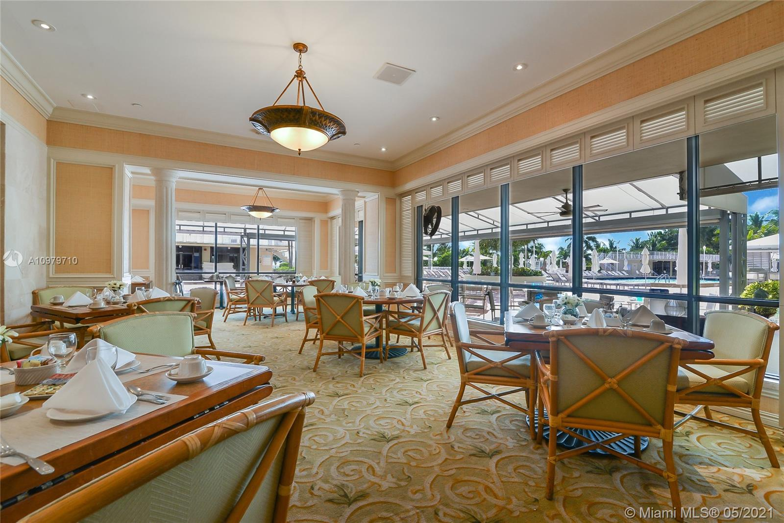 Photo of 9801 Collins Ave #10R, Bal Harbour, Florida, 33154 - Restaurant, pool area