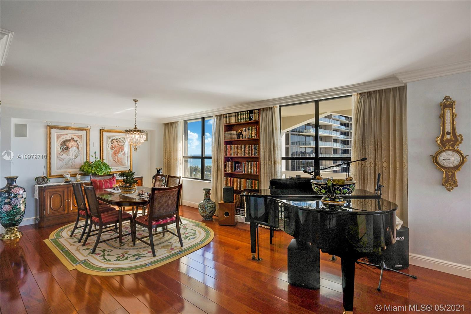 Photo of 9801 Collins Ave #10R, Bal Harbour, Florida, 33154 - Dining room looking ocean views