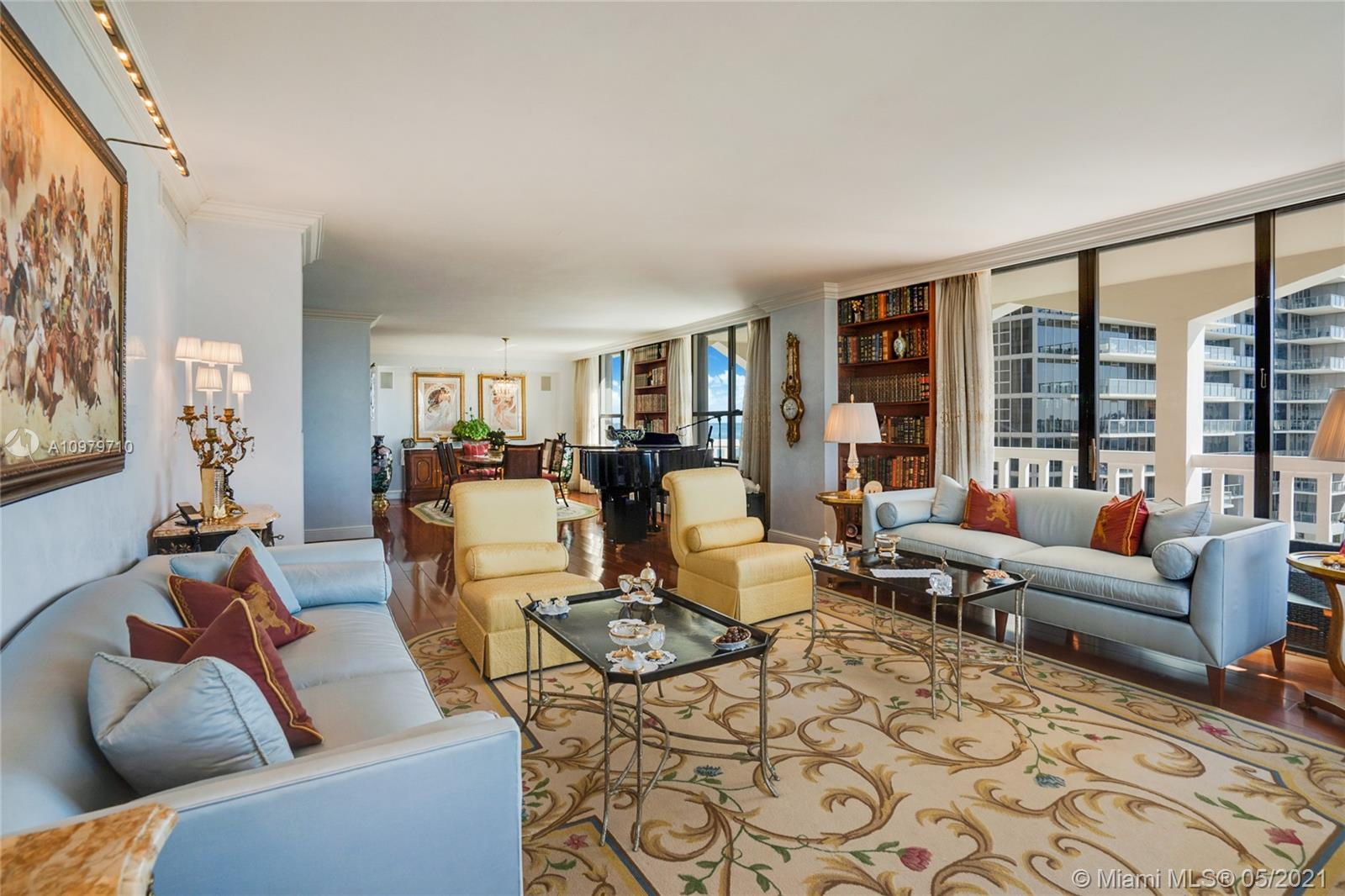 Photo of 9801 Collins Ave #10R, Bal Harbour, Florida, 33154 - Living area