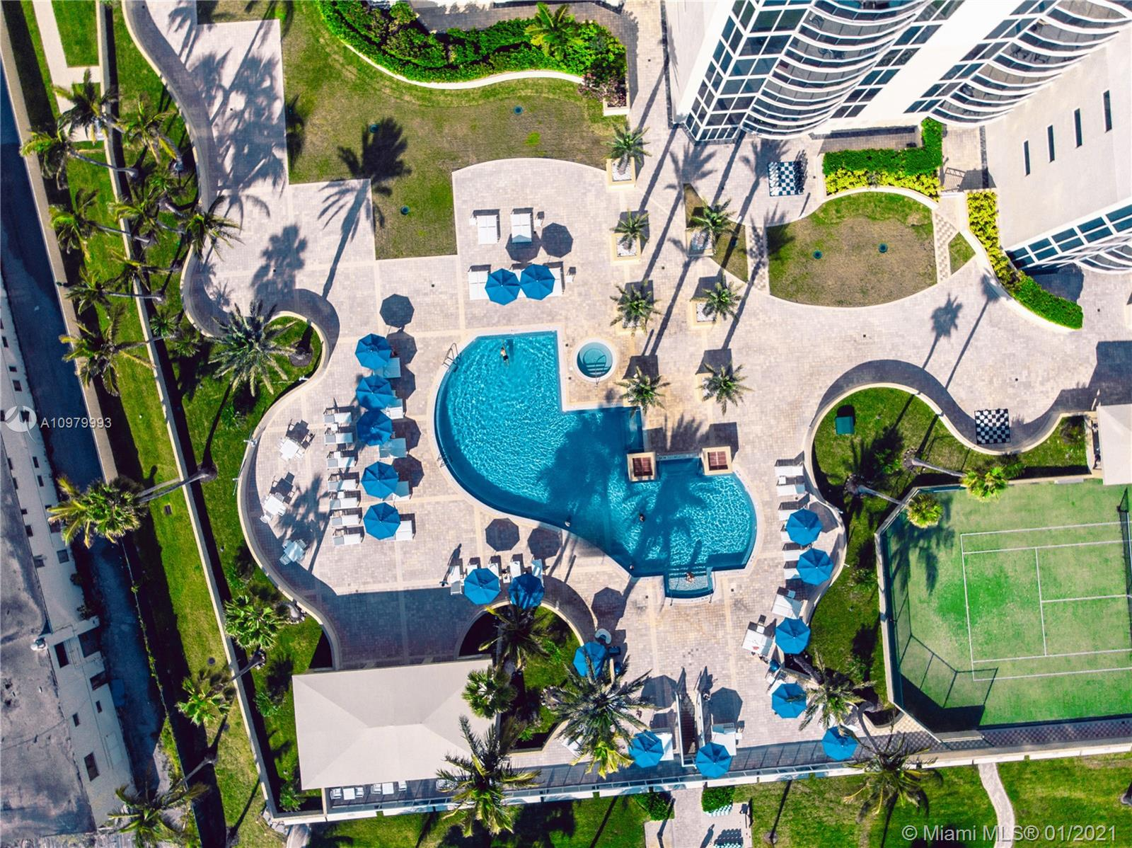 Photo of 17555 Collins Ave #1006, Sunny Isles Beach, Florida, 33160 - Pool at Beach Front.