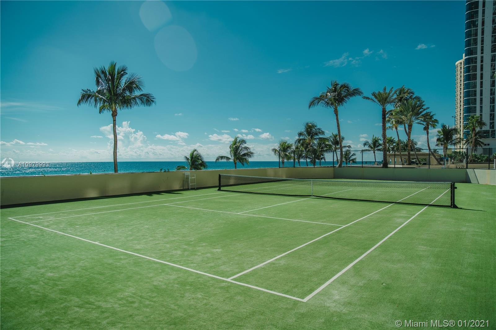 Photo of 17555 Collins Ave #1006, Sunny Isles Beach, Florida, 33160 - Tennis court.