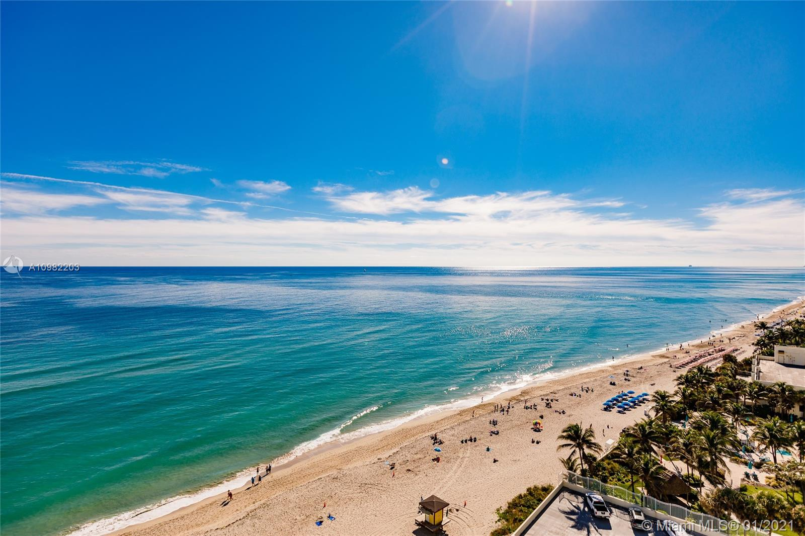 Photo of 3725 Ocean Dr #1504, Hollywood, Florida, 33019 - Direct ocean view from all rooms, including your private balcony.