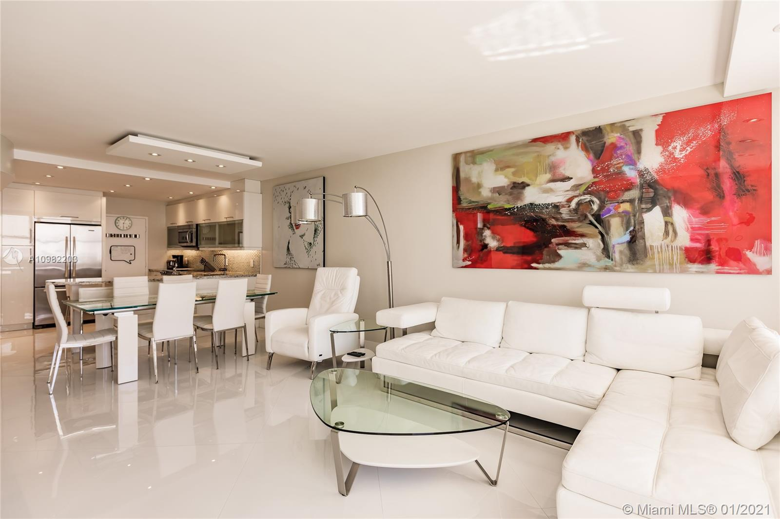 Photo of 3725 Ocean Dr #1504, Hollywood, Florida, 33019 - Enjoy modern Art all throughout the apartment.