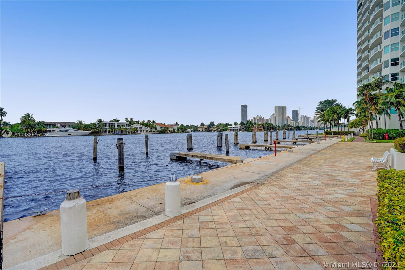 Photo of 20281 Country Club Dr #2407, Aventura, Florida, 33180 - State of the art gym facing the intracosatal.