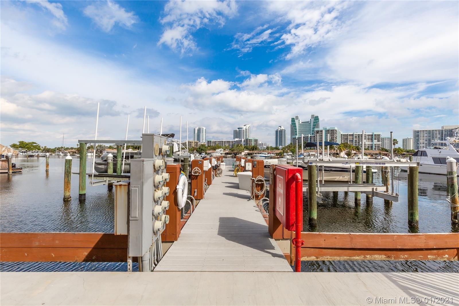Photo of 300 Three Islands Blvd #305 with dock, Hallandale Beach, Florida, 33009 -