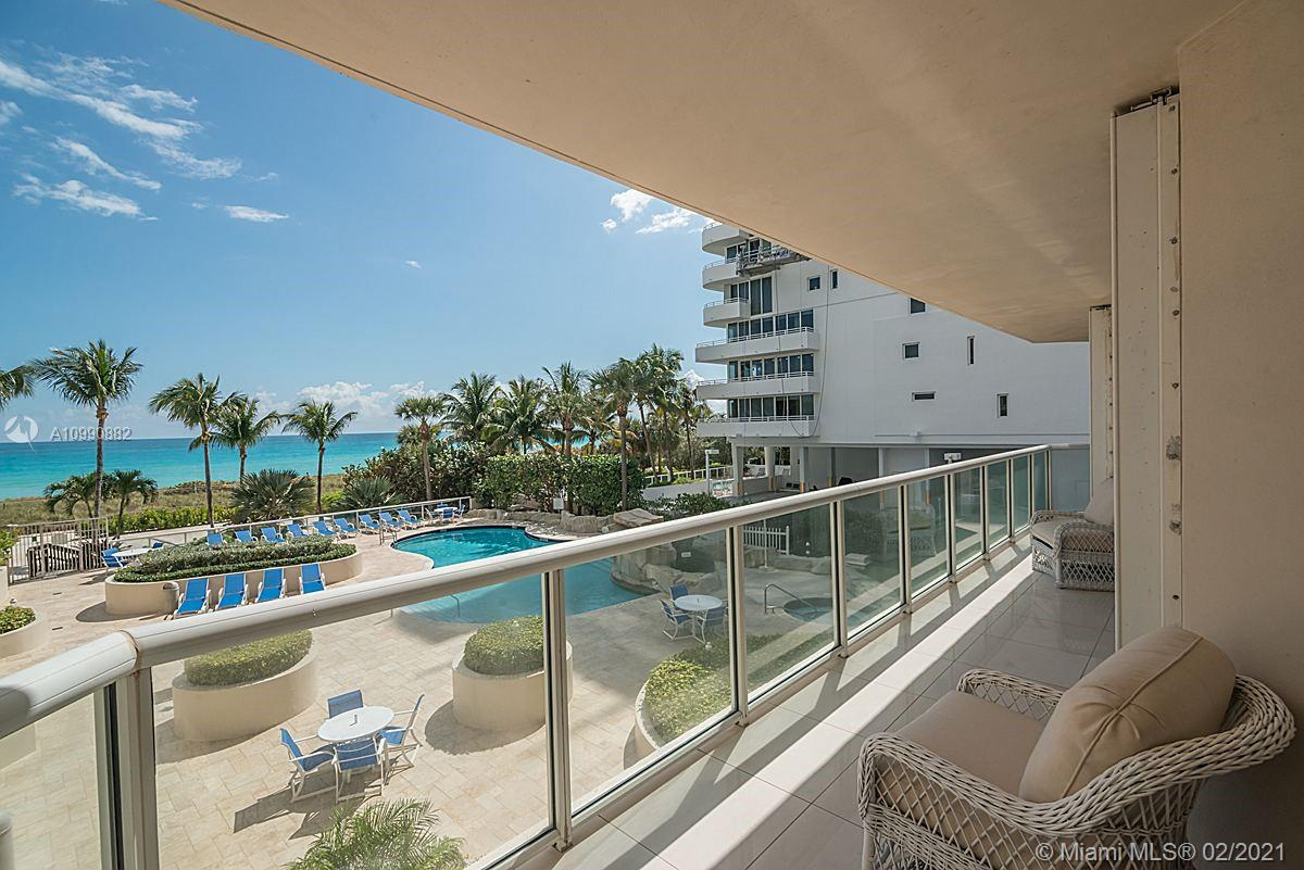 Photo of 8925 Collins Ave #2H, Surfside, Florida, 33154 - View from the living room.