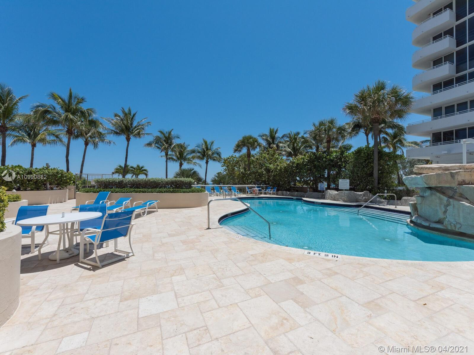 Photo of 8925 Collins Ave #2H, Surfside, Florida, 33154 - Pool and deck being renovated. Detailed list with renderings in MLS Attachments.