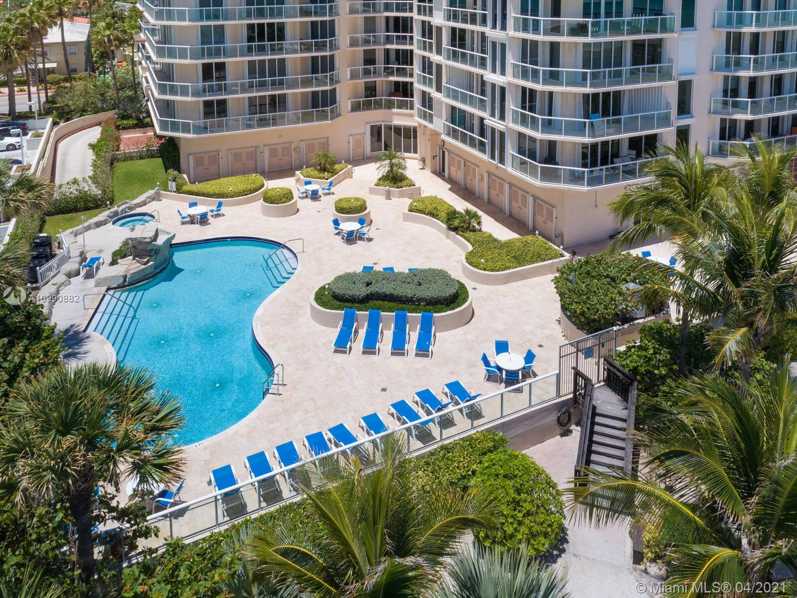 Photo of 8925 Collins Ave #2H, Surfside, Florida, 33154 - Pool prior to renovation.