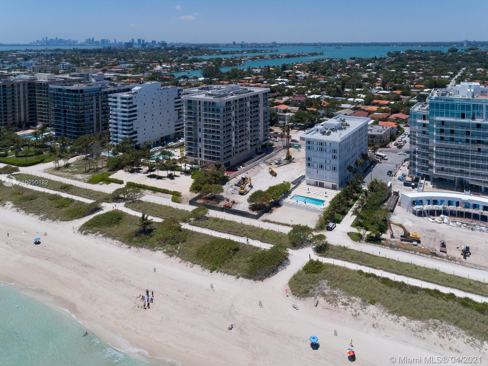 Photo of 8925 Collins Ave #2H, Surfside, Florida, 33154 - Aerial of Mirage and surrounding area from the ocean.