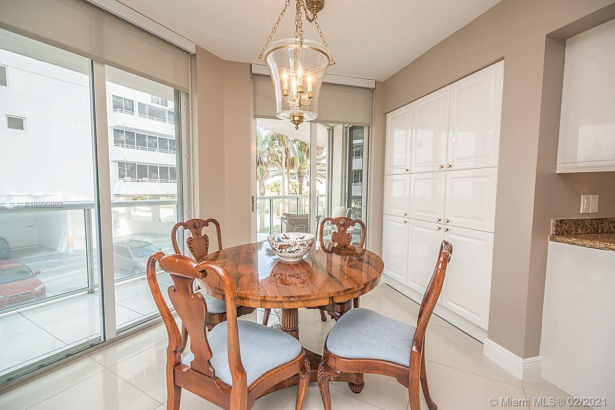 Photo of 8925 Collins Ave #2H, Surfside, Florida, 33154 - Dining room (Light fixture excluded from sale).